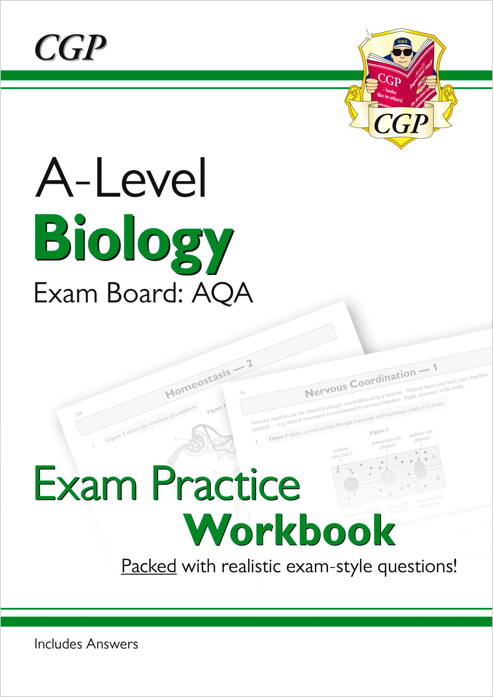 BAQ71 - A-Level Biology: AQA Year 1 & 2 Exam Practice Workbook - includes Answers
