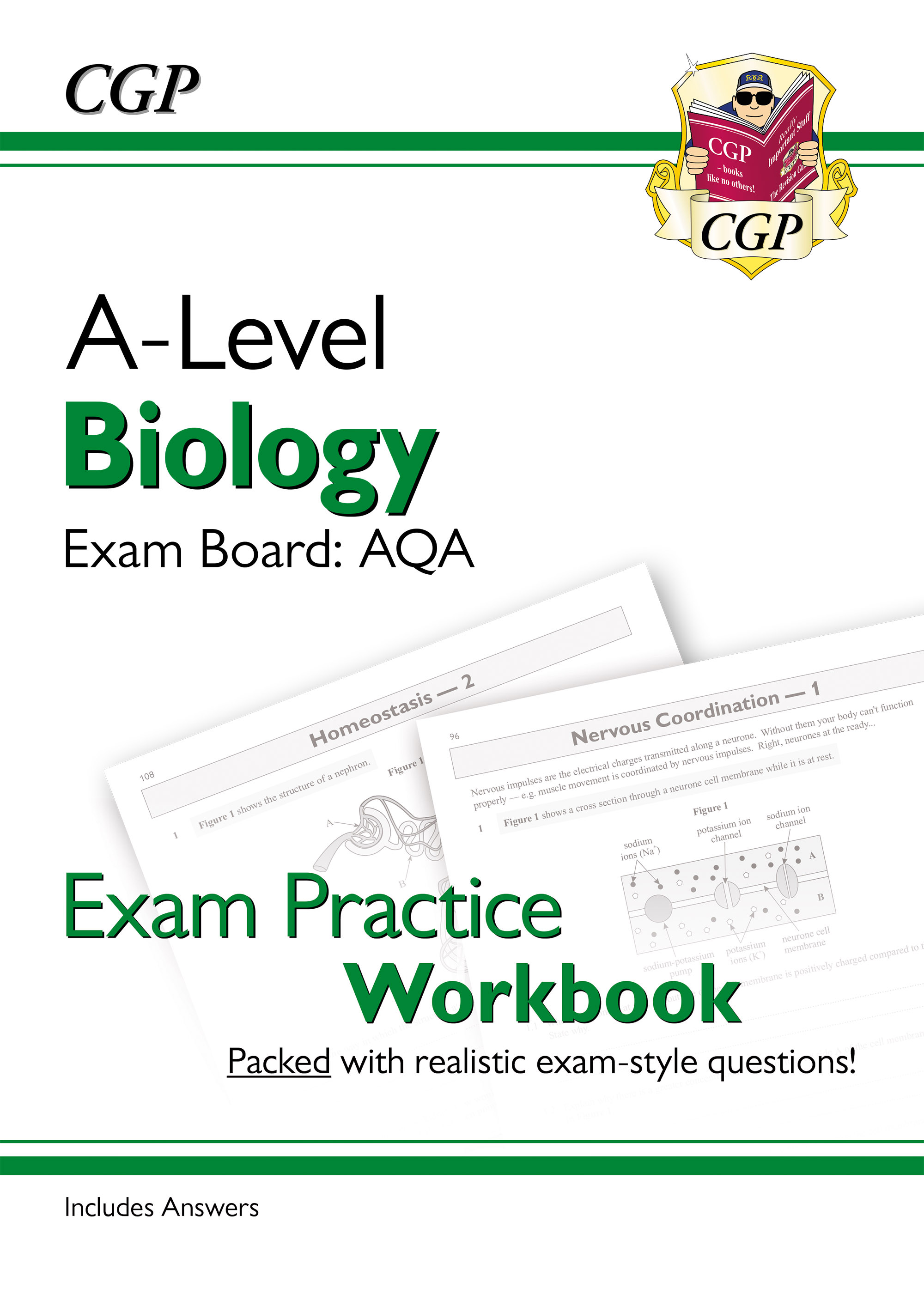 BAQ71DK - New A-Level Biology: AQA Year 1 & 2 Exam Practice Workbook - includes Answers