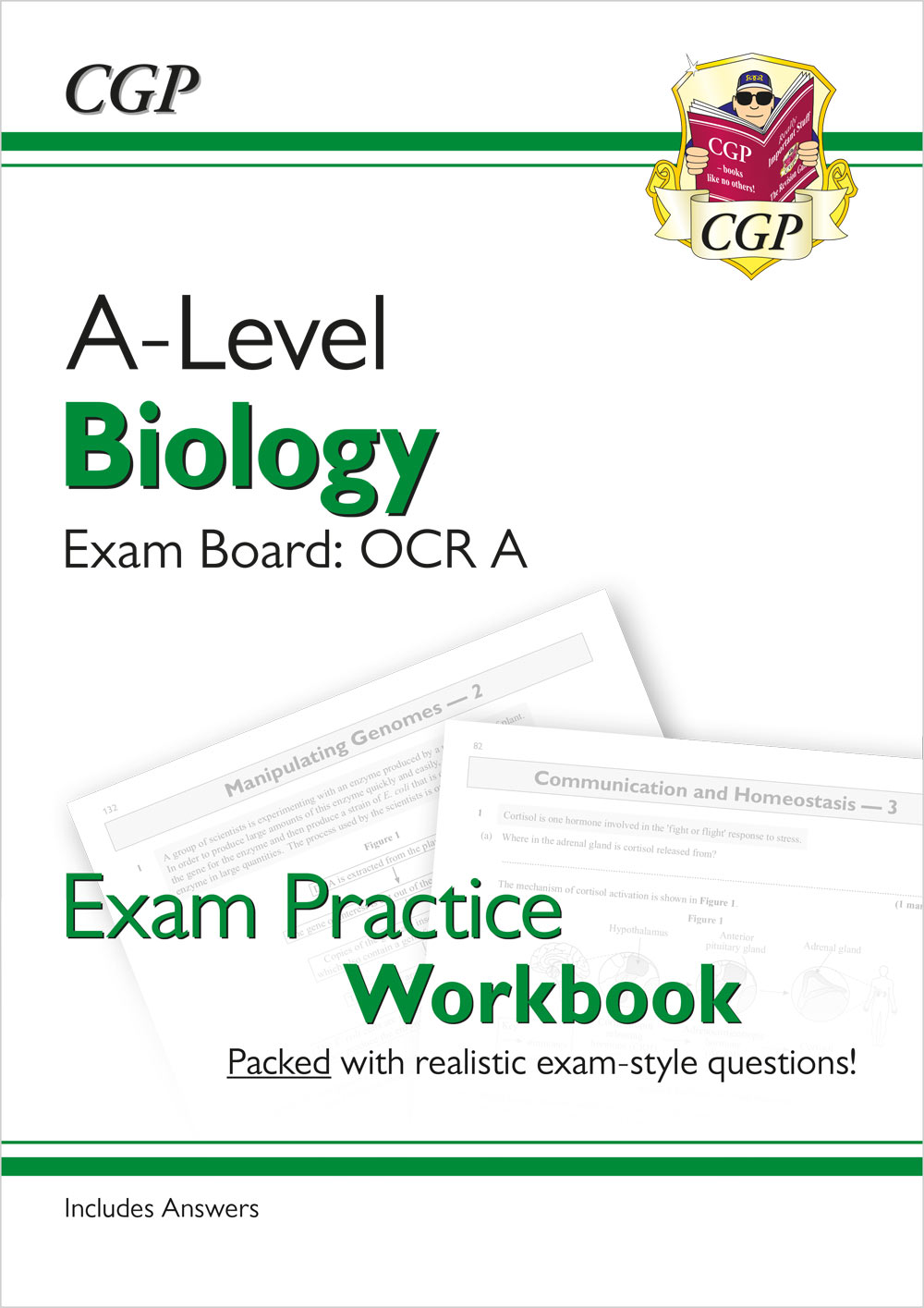 BRAQ71 - New A-Level Biology: OCR A Year 1 & 2 Exam Practice Workbook - includes Answers