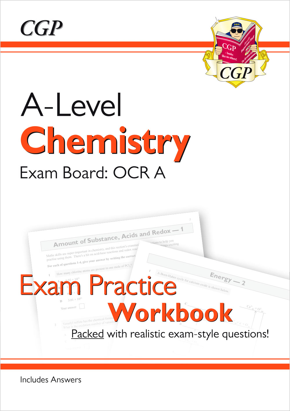 CRAQ71 - A-Level Chemistry: OCR A Year 1 & 2 Exam Practice Workbook - includes Answers