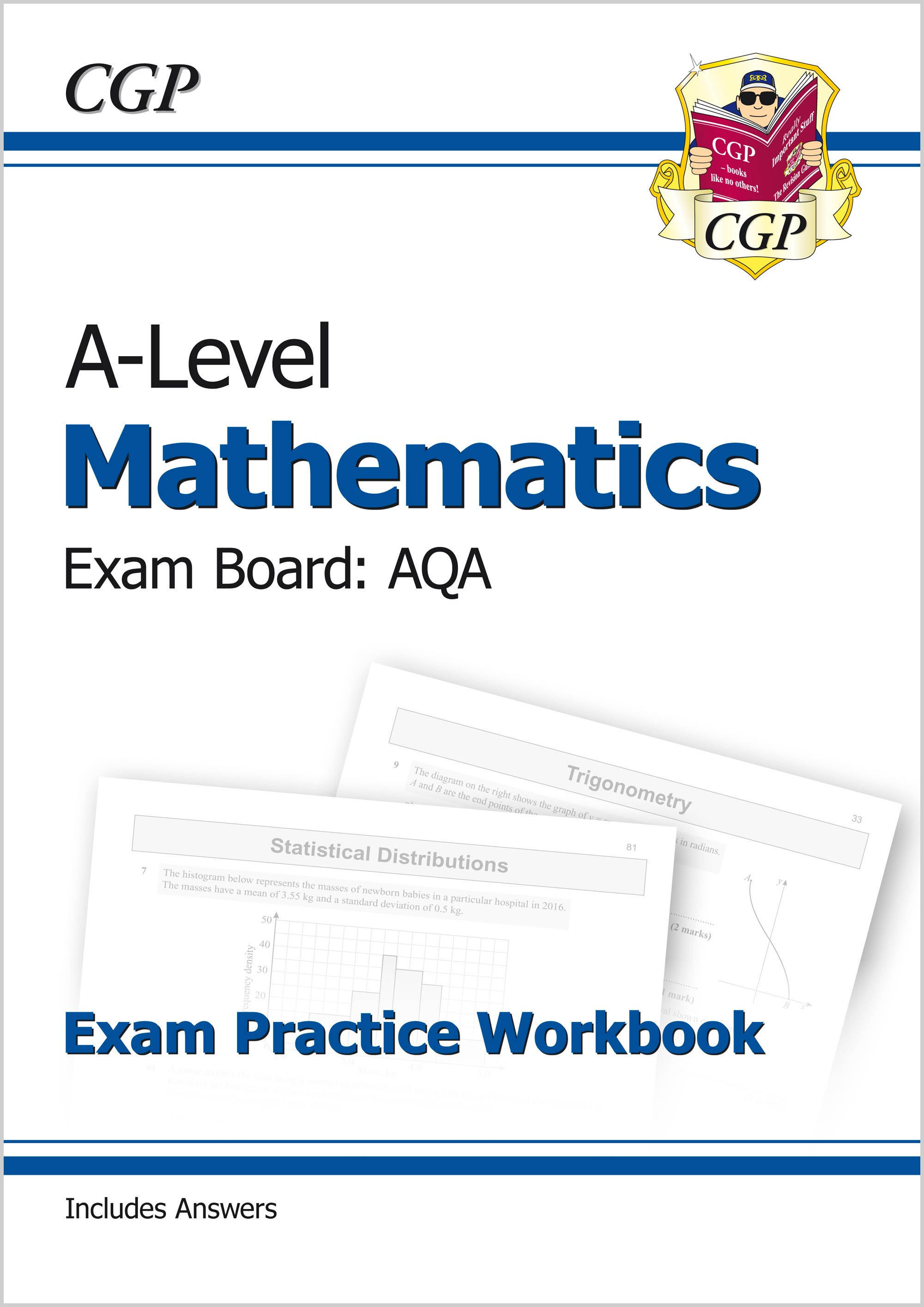 MAQ71 - A-Level Maths for AQA: Year 1 & 2 Exam Practice Workbook