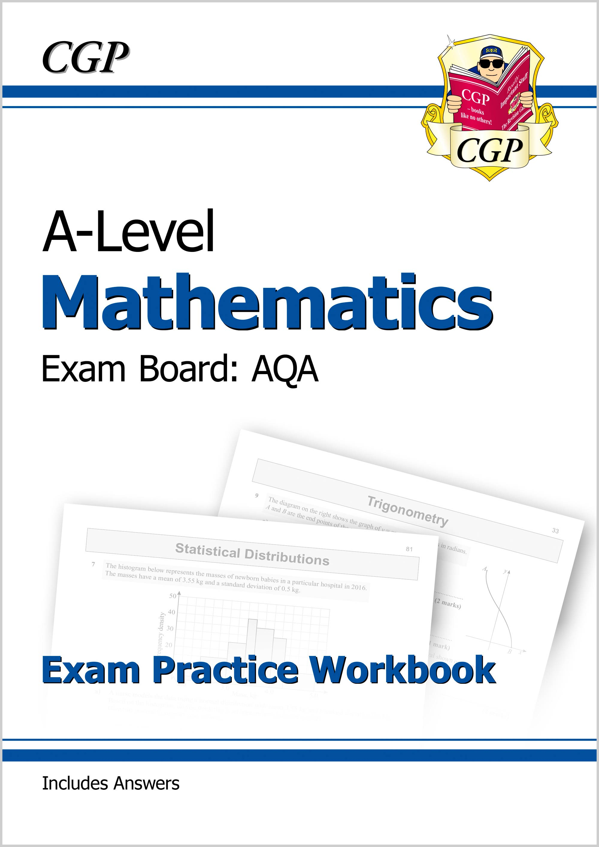 MAQ71DK - New A-Level Maths for AQA: Year 1 & 2 Exam Practice Workbook