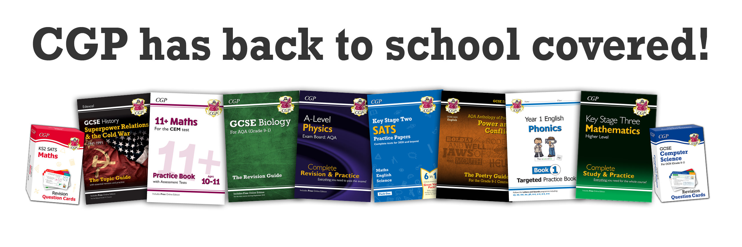 CGP has back to school covered