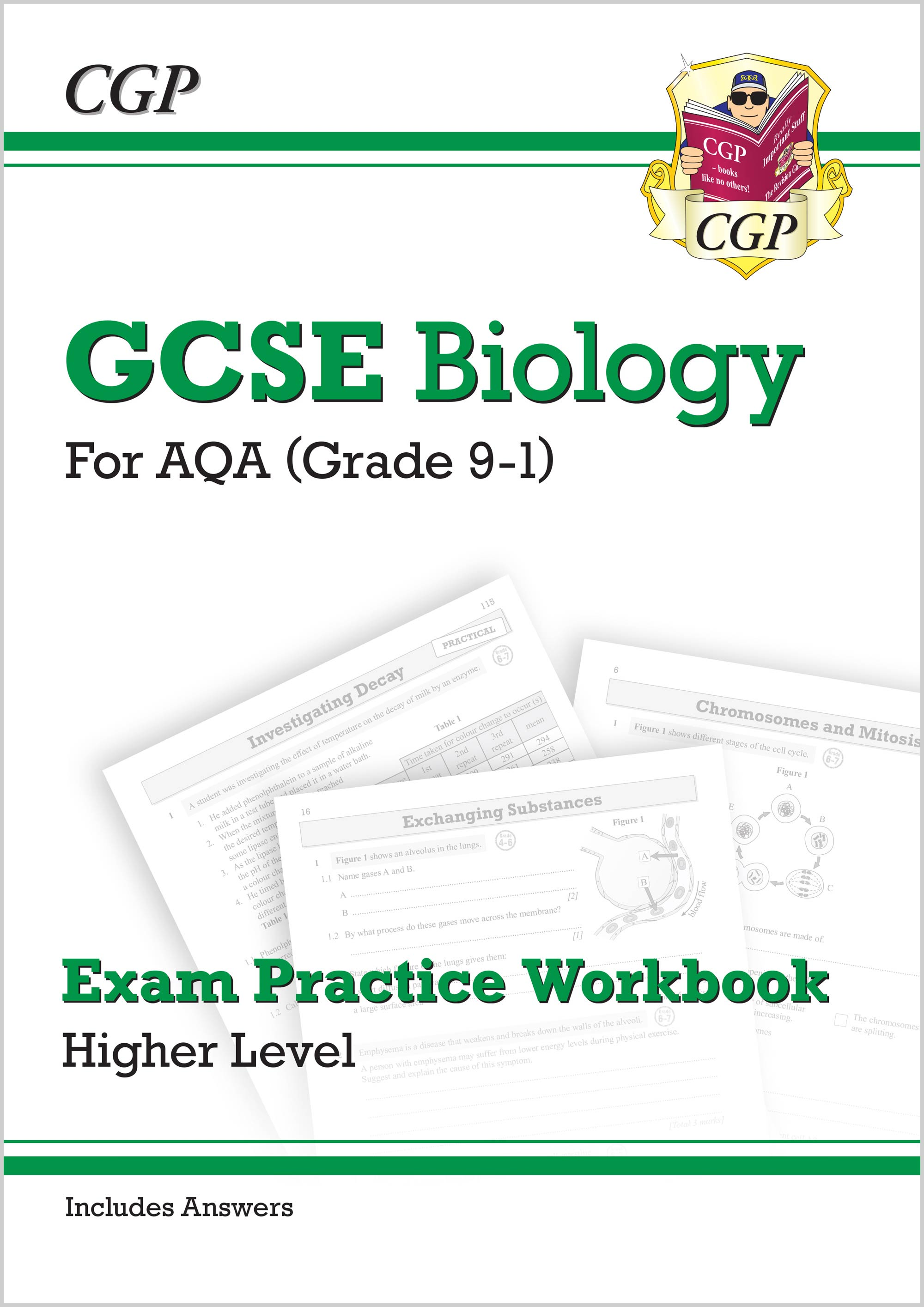 New Grade 9-1 GCSE Biology: AQA Exam Practice Workbook (with answers) -  Higher