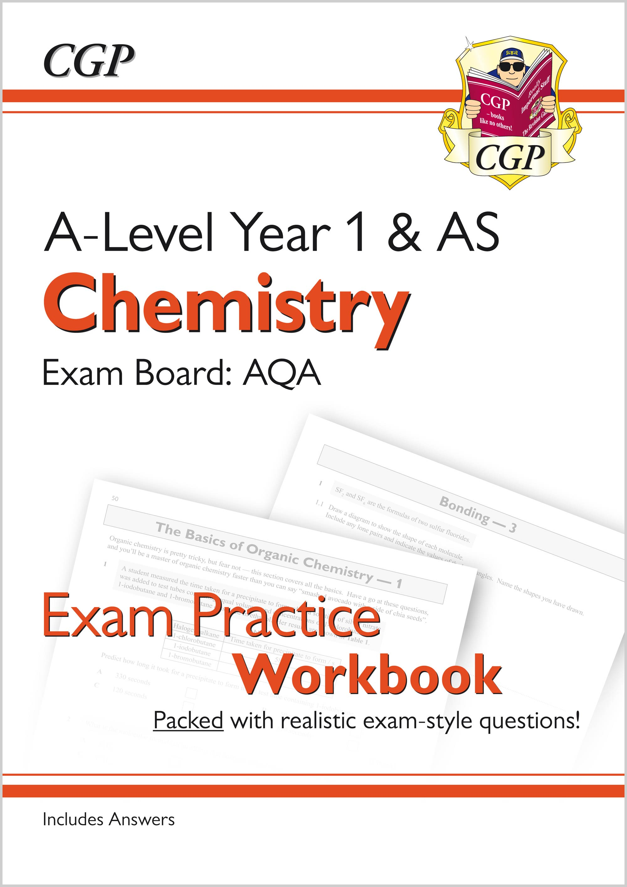 New A-Level Chemistry: AQA Year 1 & AS Exam Practice Workbook - includes  Answers
