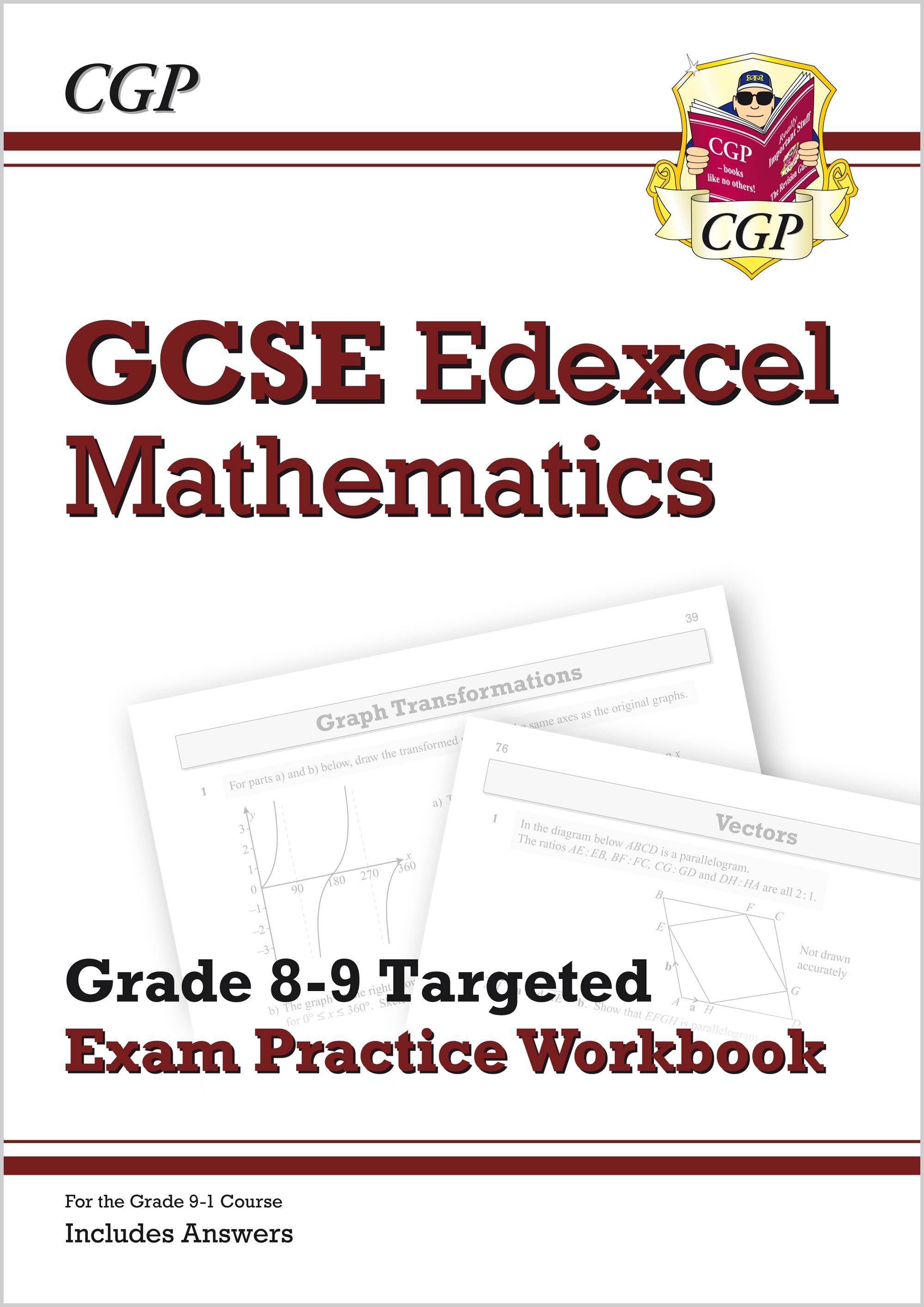 GCSE Maths Edexcel Grade 8-9 Targeted Exam Practice Workbook (includes  Answers)