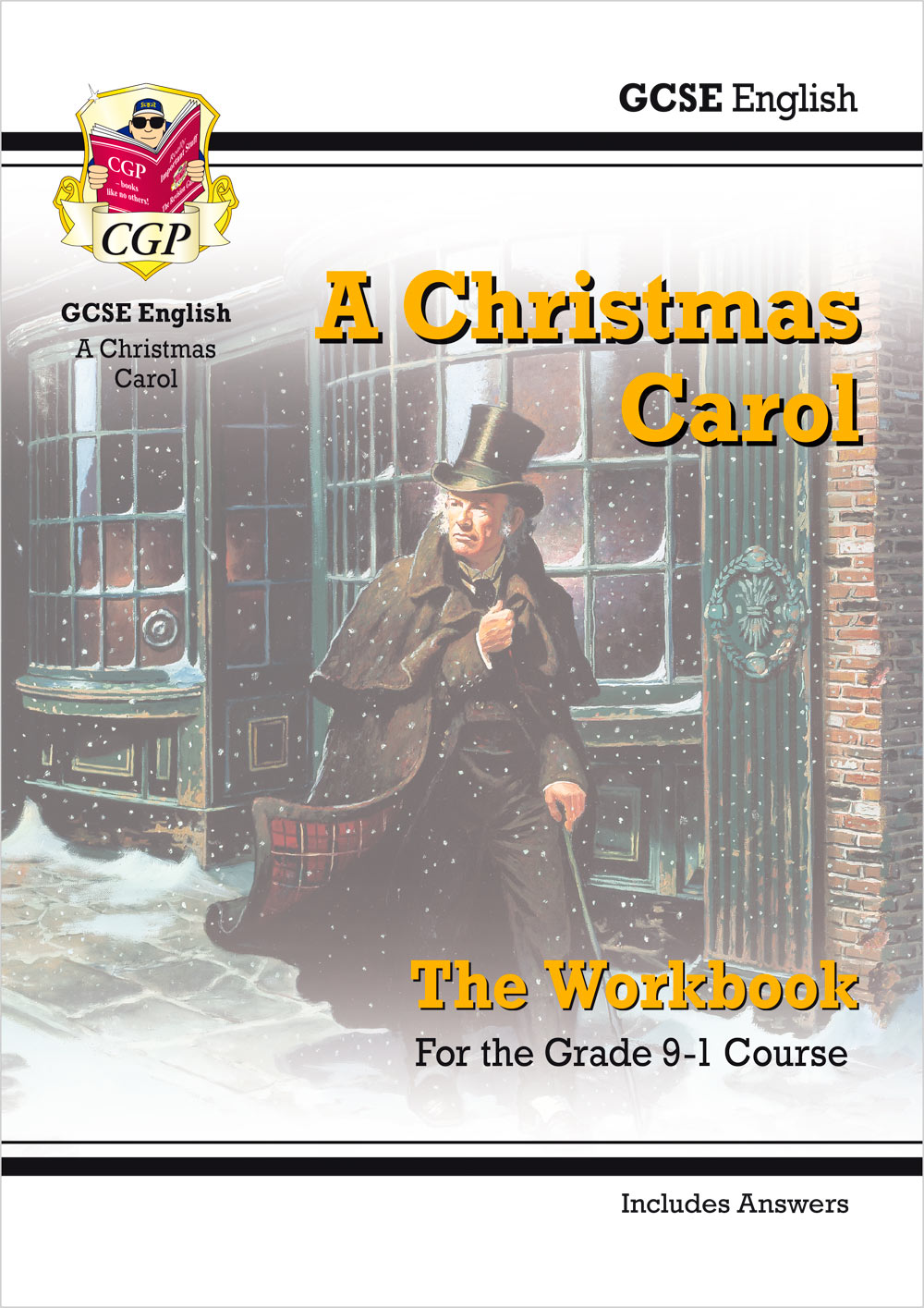 picture relating to Home and Family Christmas Workbook titled Fresh new Quality 9-1 GCSE English - A Xmas Carol Workbook