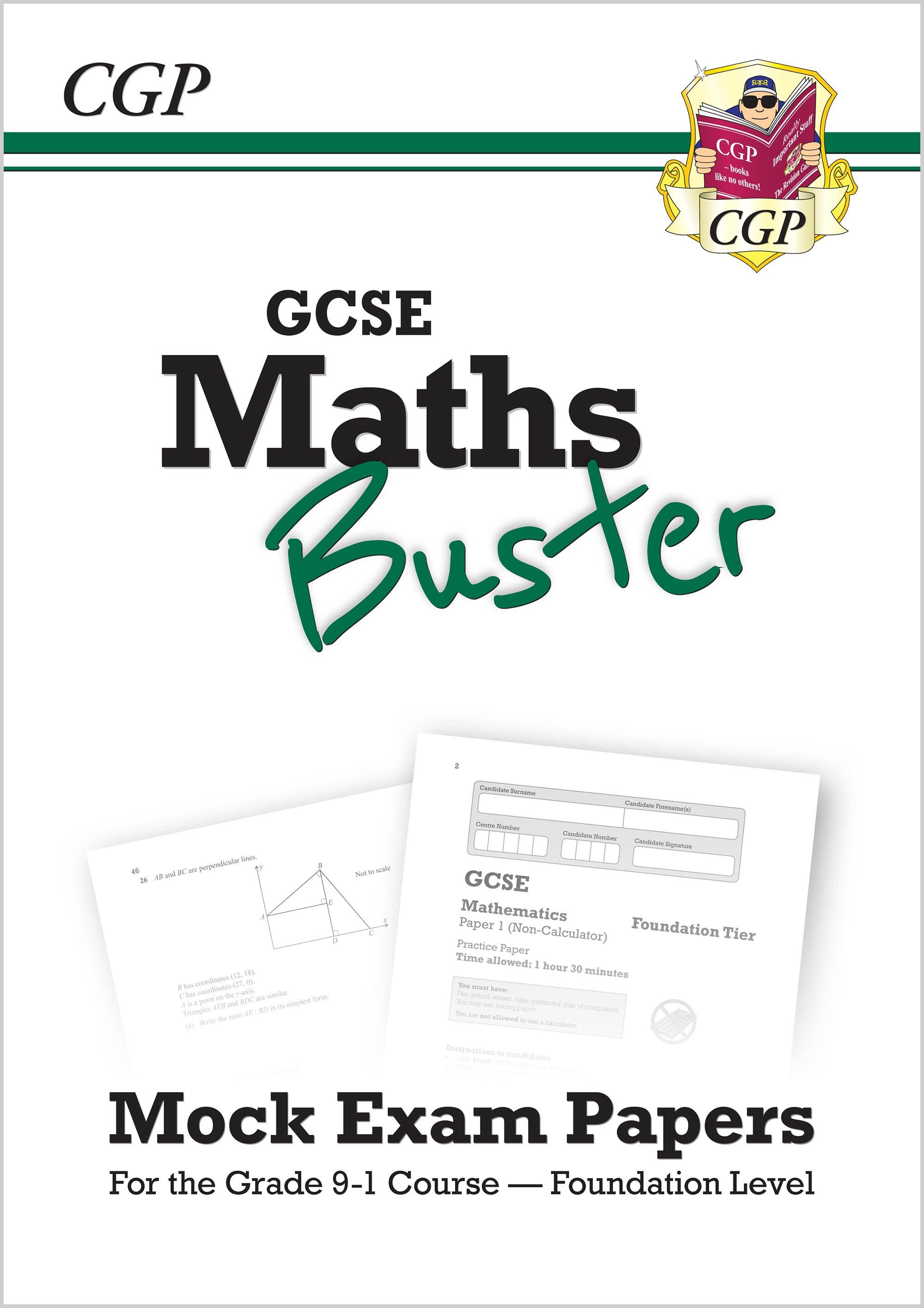 MathsBuster: GCSE Maths Mock Exam Paper Book (Grade 9-1 Course) - Foundation