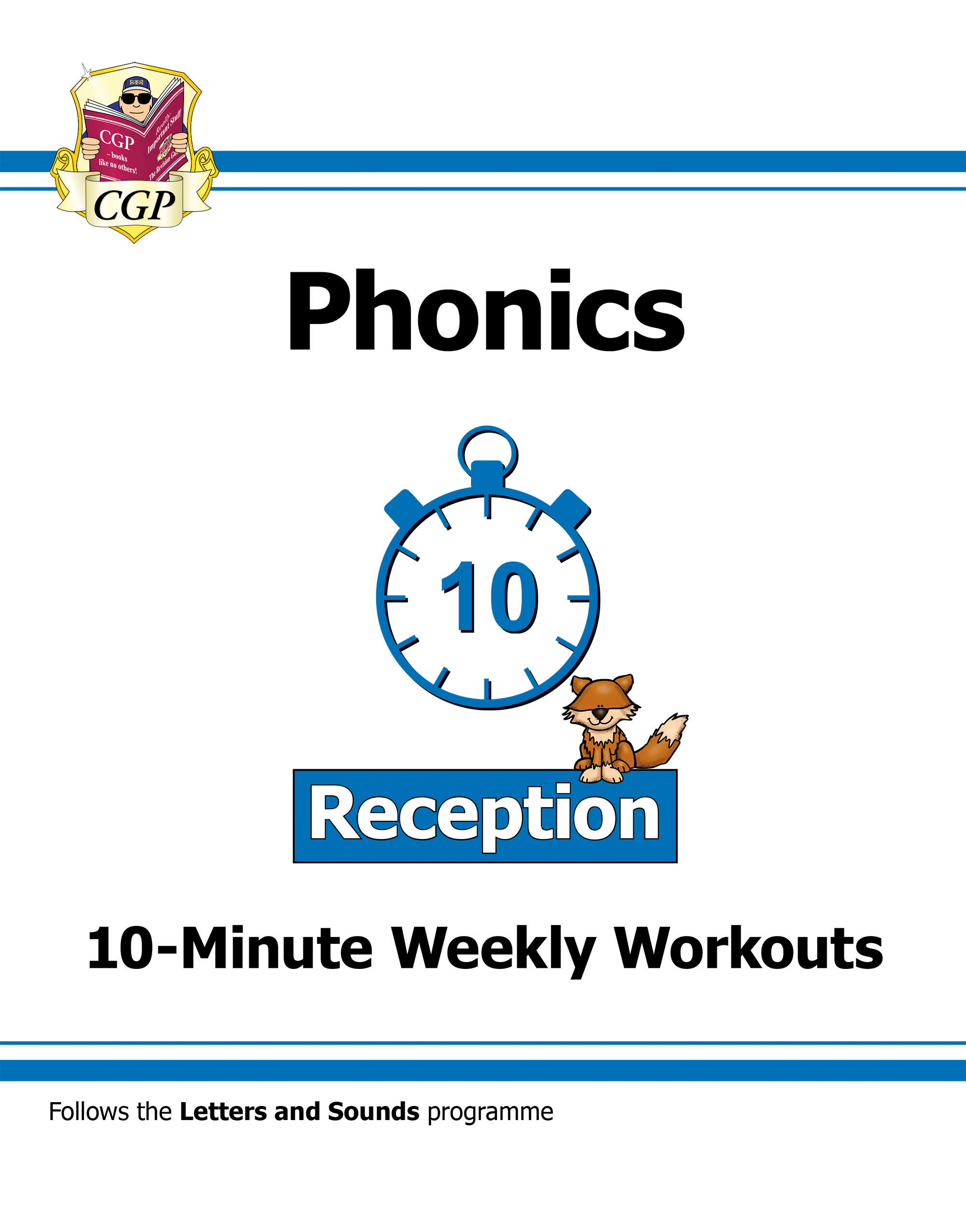 English 10 Minute Weekly Workouts Phonics Reception Cgp Books