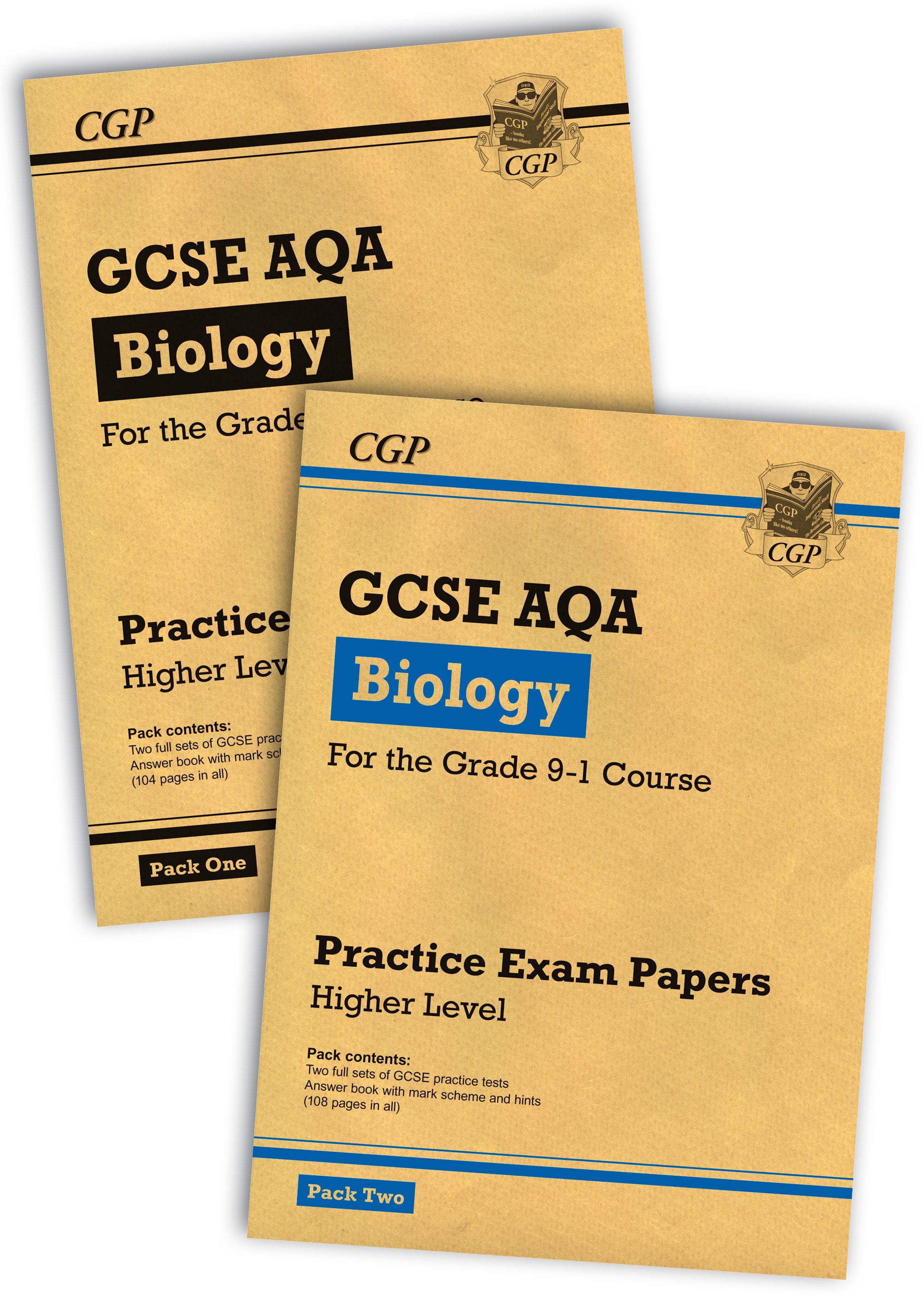 Grade 9-1 GCSE Biology AQA Practice Papers: Higher Pack 1 & 2 Bundle